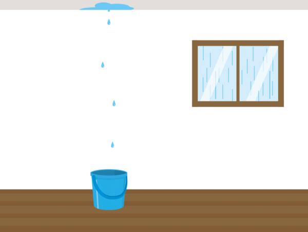 雨漏り突然
