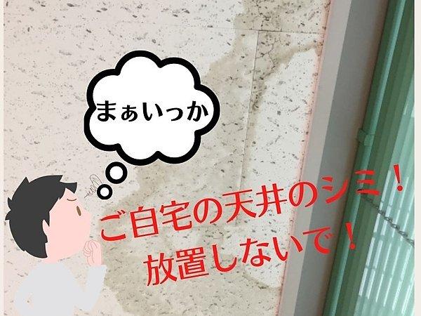 天井のシミ放っておかないで!それ雨漏りのサインかもしれません!の画像